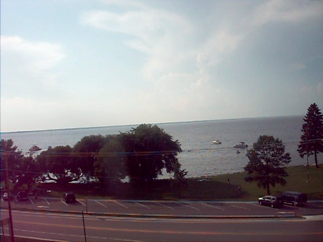 view from mast apex at Wind Power Surf Shop